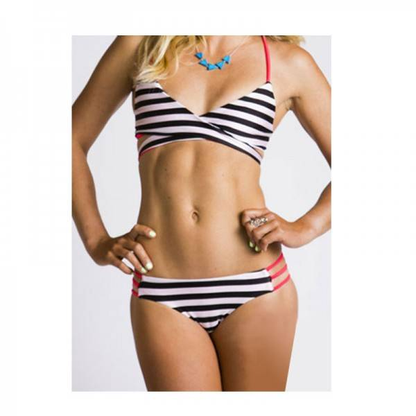 Sensi Colleen Bikini Stripe Hot Red